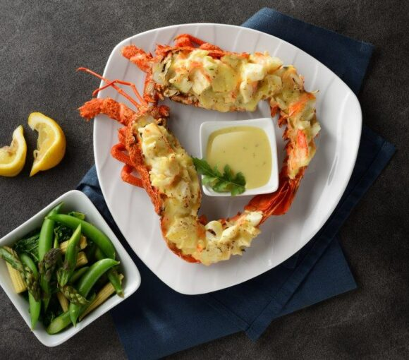 Grilled Tristan Lobster with Miso Butter