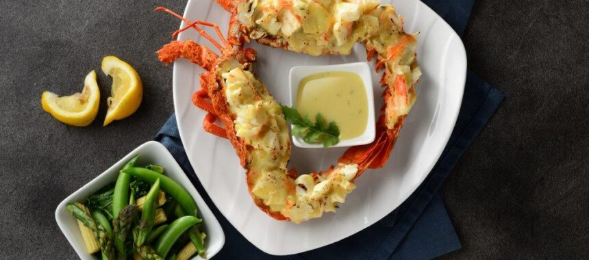 Amazing Grilled Tristan Lobster with Miso Butter