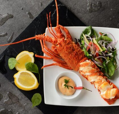 Lobster salad with a cocktail sauce