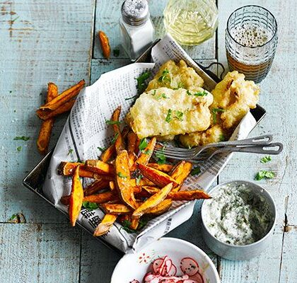 Asian style fish and chips
