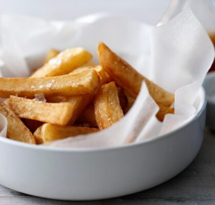 Twice cooked chips