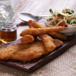 Dusted Flounder & Warm Winter Vegetable Salad With Halloumi