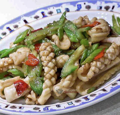 Squid and Celery Stir Fry - Malaysian Style