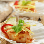 Grilled Scallops with Sweet Chilli and Orange Sauce