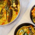 Beautiful Saffron Risoni Mussels