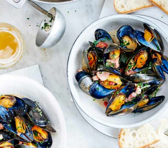 mussels with wheat beer