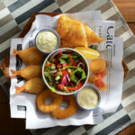 Fantastic Seafood Basket with Aioli and a Tartare Sauce