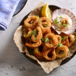 MSC Certified Shortfin Calamari Rings with a Coriander & Lime Mayonnaise