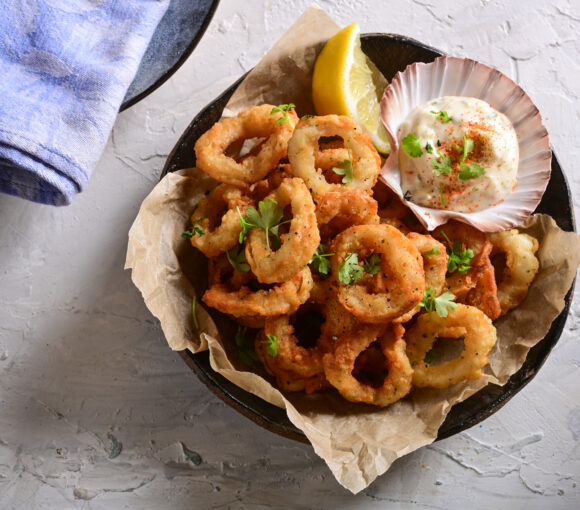 Pacific West MSC Certified Lightly Crumbed Shortfin Calamari Rings