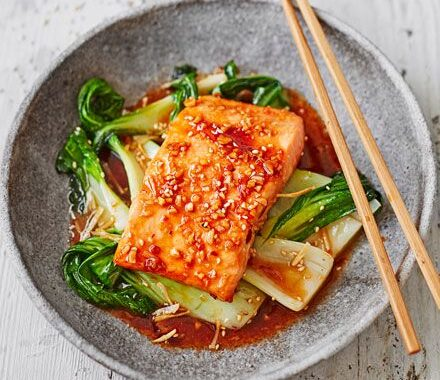 Fantastic Teriyaki Salmon with Sesame Pak Choi