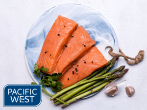 Pacific West salmon portions skin off