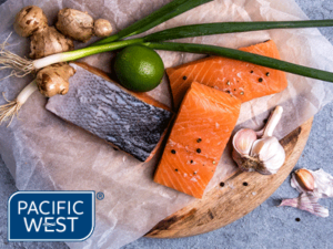 Pacific West salmon portions skin on