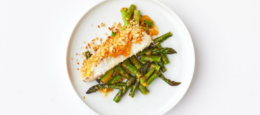 Crispy Miso Butter Barramundi With Asparagus – Meal Kit Idea!