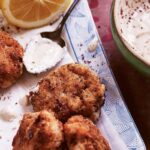Fish Fritters with Sumac and Lemon Tahini Dipping Sauce