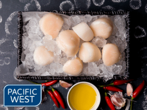 Pacific West scallops roe off