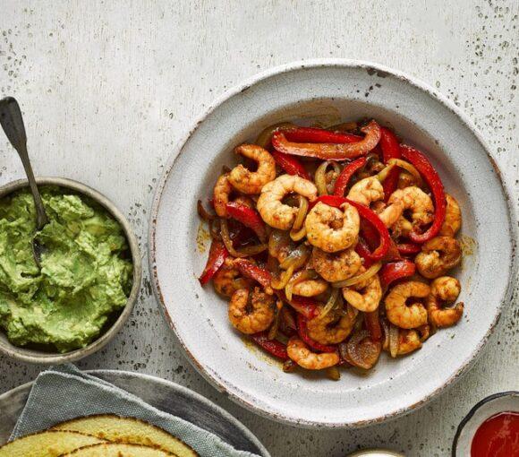 Spicy Prawn Fajitas