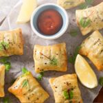 Smoked Salmon Pastries with a Spicy Tomato Sauce